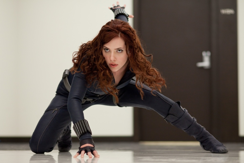 RELEASE DATE: May 7, 2010. MOVIE TITLE: Iron Man 2. STUDIO: Paramount Pictures. PLOT: Billionaire Tony Stark must contend with deadly issues involving the government, his own friends, as well as new enemies due to his superhero alter ego Iron Man. PICTURED: SCARLETT JOHANSSON as Natasha Romanoff