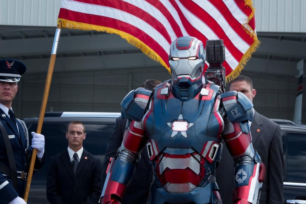 """Marvel's Iron Man 3"" Iron Patriot Ph: Zade Rosenthal © 2012 MVLFFLLC. TM & © 2012 Marvel. All Rights Reserved."