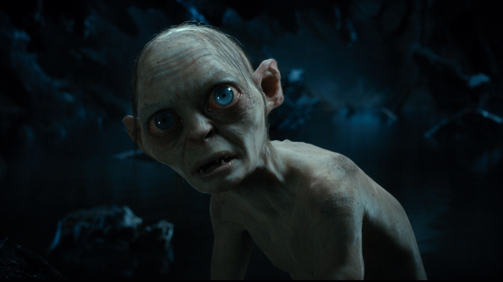 """Gollum, performed by ANDY SERKIS in the fantasy adventure """"THE HOBBIT: AN UNEXPECTED JOURNEY,"""" a production of New Line Cinema and Metro-Goldwyn-Mayer Pictures (MGM), released by Warner Bros. Pictures and MGM."""