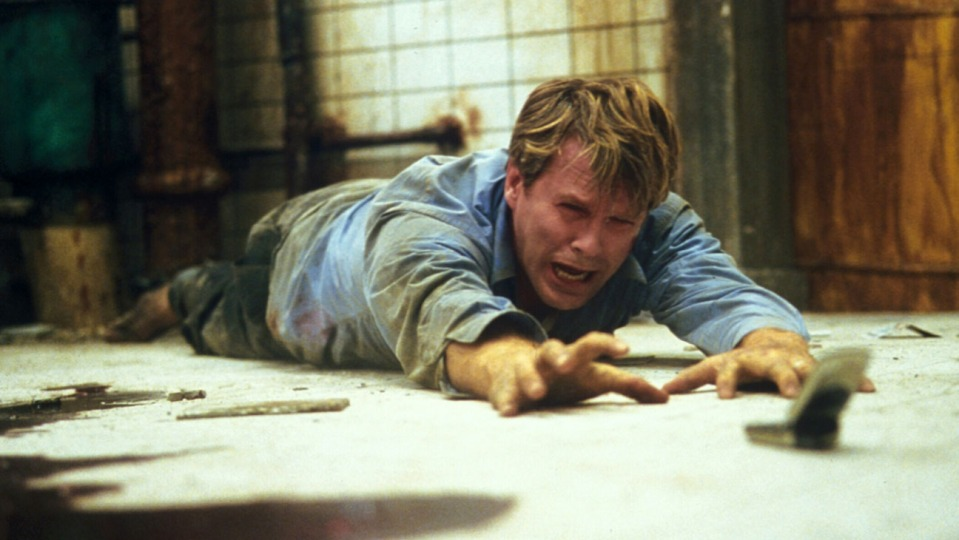 Saw (2004) Directed by James Wan Shown: Cary Elwes (as Dr. Lawrence Gordon)